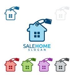 sale home logo real estate logo home house vector image