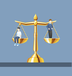 Scales justice with same weight vector