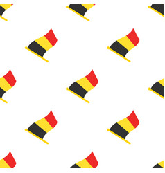 seamless pattern with flags belgium vector image