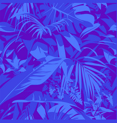 seamless ultraviolet hawaiian tropical pattern vector image