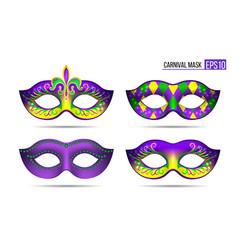 Set mardi gras masks vector