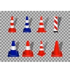 set road signs orange and blue badge vector image