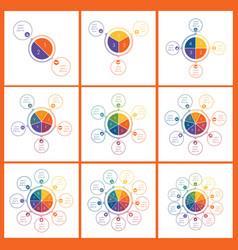 set templates for info grapchics diagram vector image
