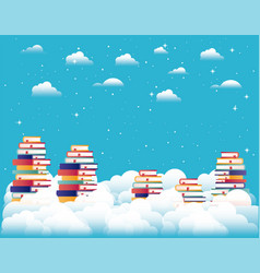 text books in the sky vector image