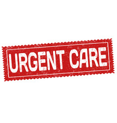 Urgent care grunge rubber stamp vector