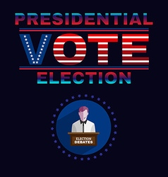 Usa Presidential Election Debates Banner vector image