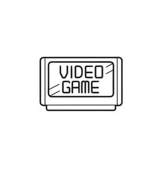 Video game cartridge hand drawn outline doodle vector