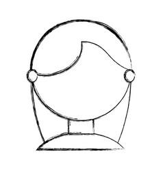 young woman faceless cartoon vector image