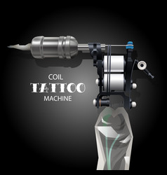 coil tattoo machine vector image vector image