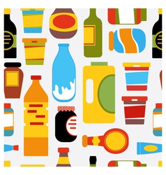 Grocery seamless Pattern vector image