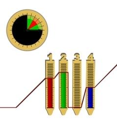infographics line graph pie chart vector image