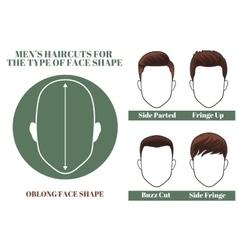 oblong face shape vector image