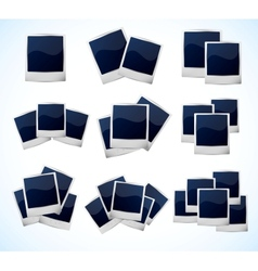 Set of photo frames vector image vector image