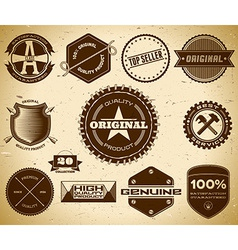 Vintage labels Collection 20 vector image vector image