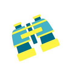 bright blue and yellow plastic binocular isolated vector image