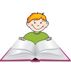 child reading vector image