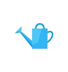flat icon watering can vector image vector image