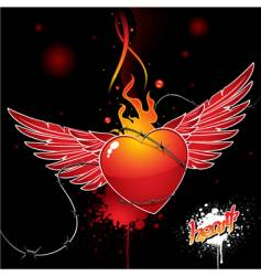 heart wings vector image
