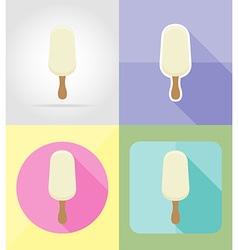 ice cream flat icons 03 vector image