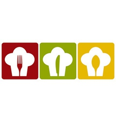 Icon chef restaurant set pattern vector image