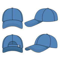color with a blue baseball cap vector image