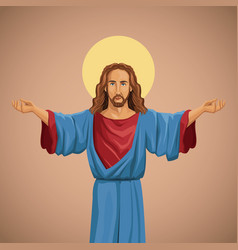 jesus christ religious image blessed vector image