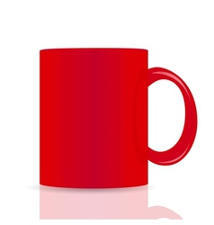 red cup isolated on white background vector image