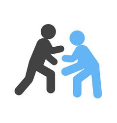 wrestling vector image
