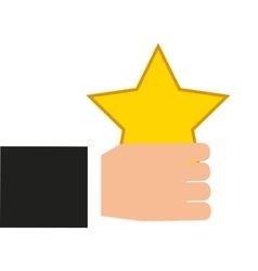 Golden star award icon vector