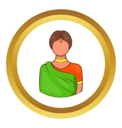 Indian woman icon vector