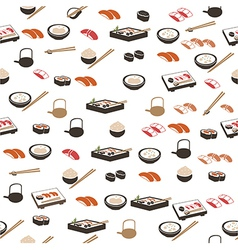 Japanese food seamless pattern vector image