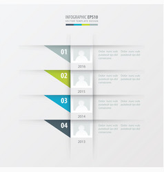timeline design template green blue gray color vector image vector image