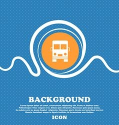 Truck icon sign Blue and white abstract background vector image