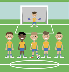 a children s football team vector image