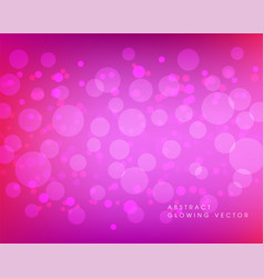 Abstract pink bokeh background vector