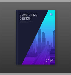 annual report brochure cover design layout vector image
