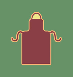 Apron simple sign cordovan icon and vector