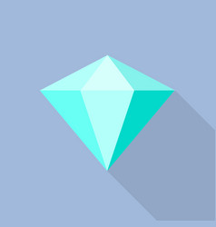 aquamarine icon flat style vector image
