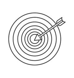 Arrow target solution design vector