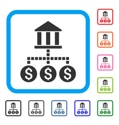 Bank cashout framed icon vector