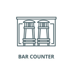 bar counter line icon bar counter outline vector image