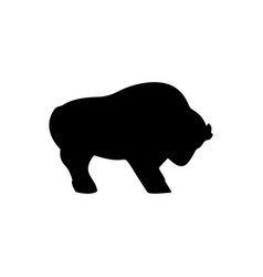 buffalo silhouette vector image