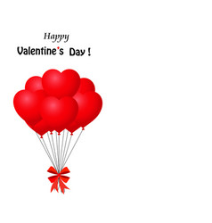 bunch of red heart shaped balloons wrapped with vector image