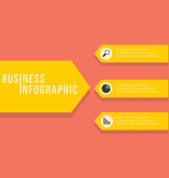 Business infographic label style design vector