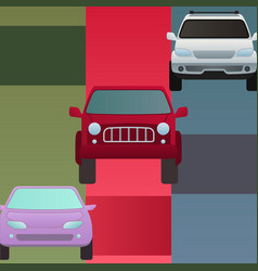car auto vehicle banner transport type design vector image
