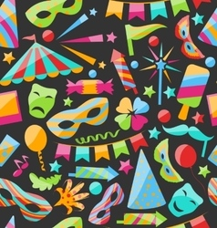Carnival Seamless Texture with Colorful Cirsus vector image