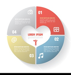 Circle step four for health concept vector image