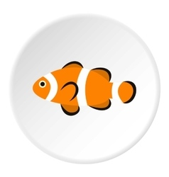 Clown fish icon flat style vector image