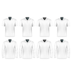 Collection of polo shirts vector