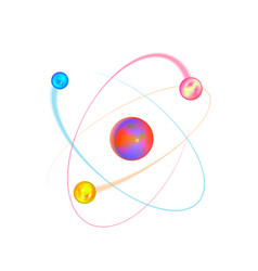 colorful atom physical structure with bright vector image